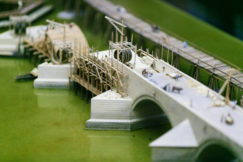 Model construction of Charles Bridge | Charles Bridge museum