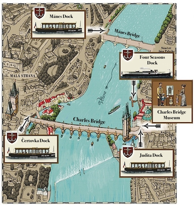 Map of Prague Venice | Charles Bridge museum