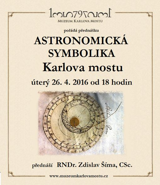Astronomická symbolika Karlova mostu - plakát | Muzeum Karlova mostu