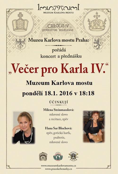 Večer pro Karla IV. - plakát | Muzeum Karlova mostu
